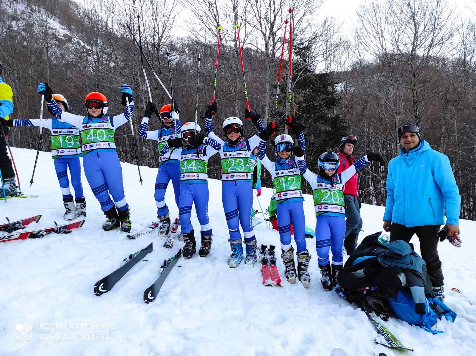 "The ski club ""Sharri Academy"" participated in the competition organized in Mavrovo ""Nocna Snegullka"""